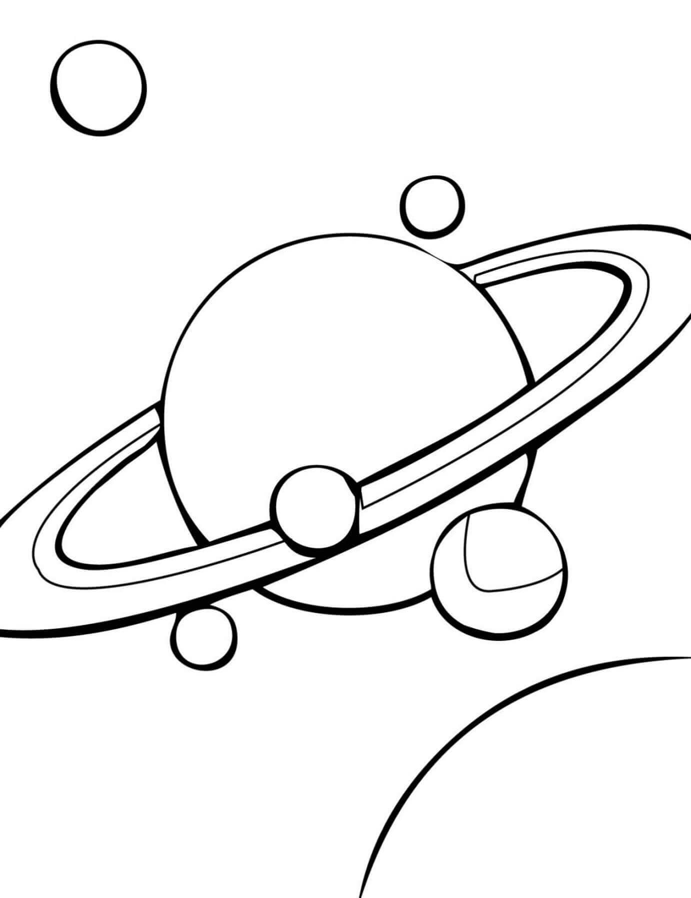 Saturn Planet Coloring Page