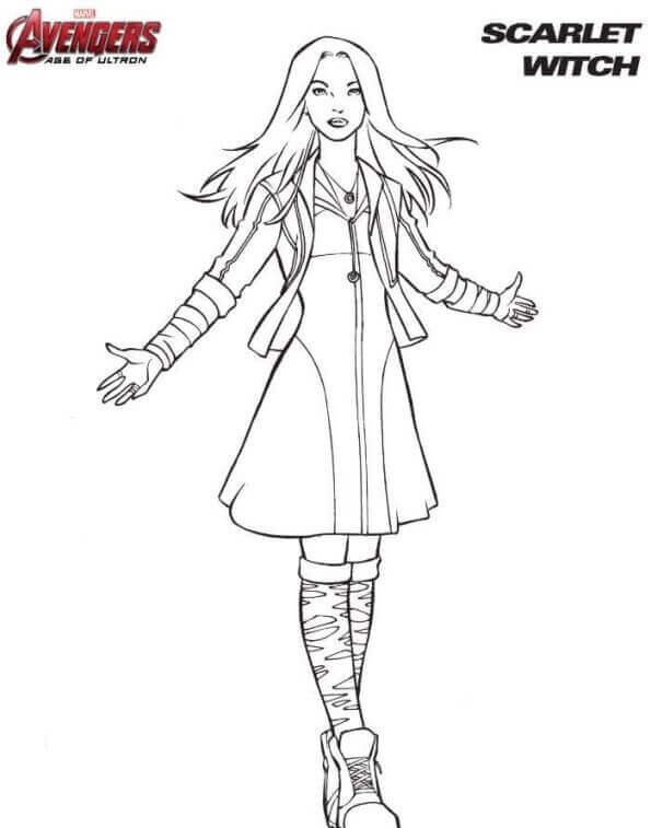 Scarlet Witch Coloring Page