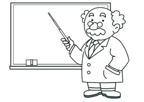 Science Teacher Coloring Page