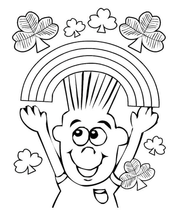 Shamrock Coloring Page Printable