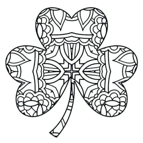 25 Free Shamrock Coloring Pages Printable