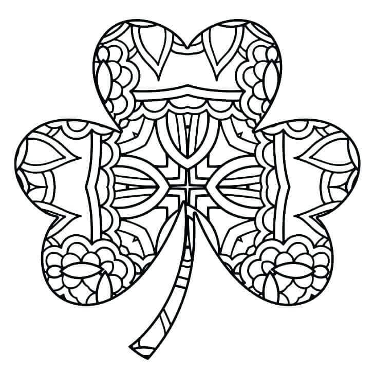 Shamrock Coloring Pages Fo Adults