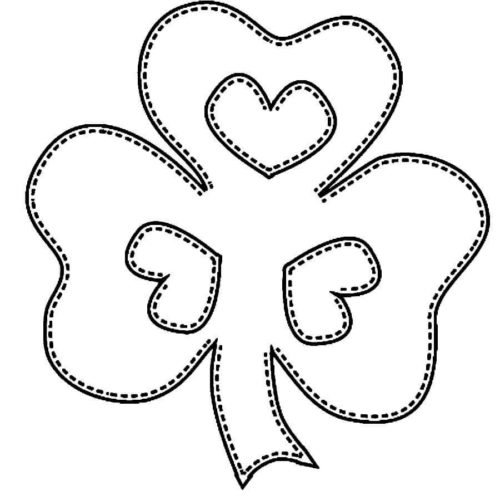 Shamrock Coloring Pages For Preschoolers