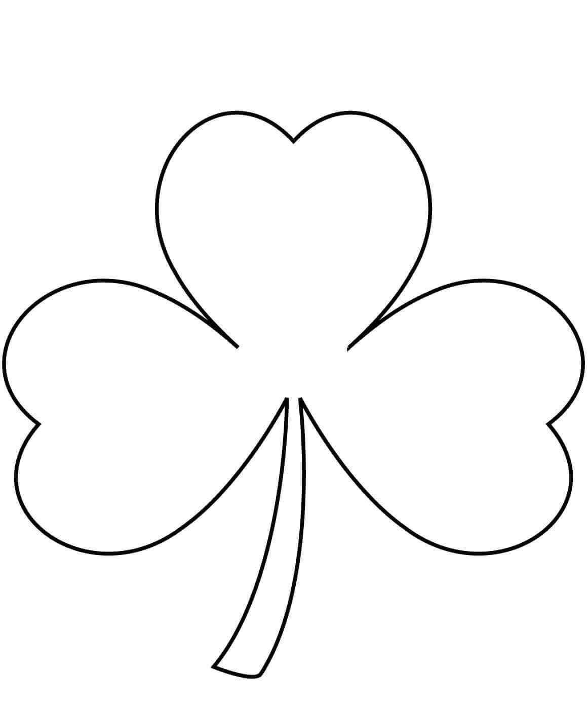Simple Shamrock Coloring Page For Kids