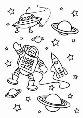Space Coloring Pages Printable