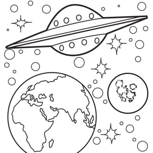Space Coloring Pages To Print