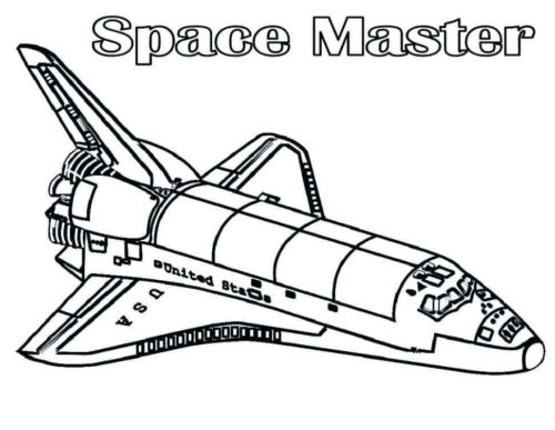 Space Master Coloring Page