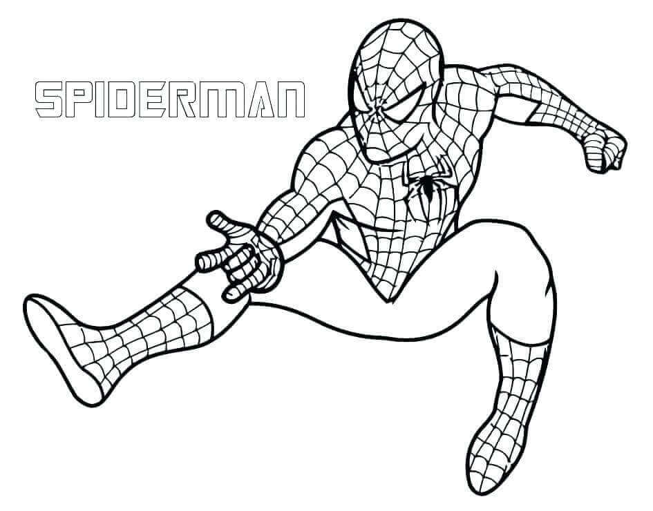 Spiderman Avengers Endgame Coloring Page