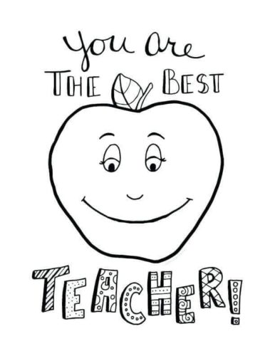 Teacher Appreciation Week Coloring Images