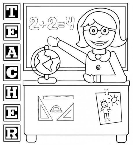 Teacher Appreciation Week Coloring Printables