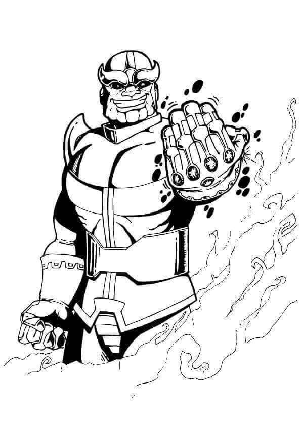 Thanos Avengers Endgame Coloring Picture