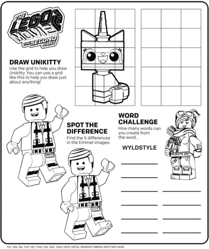 The Lego Movie 2 Coloring Pages Printable
