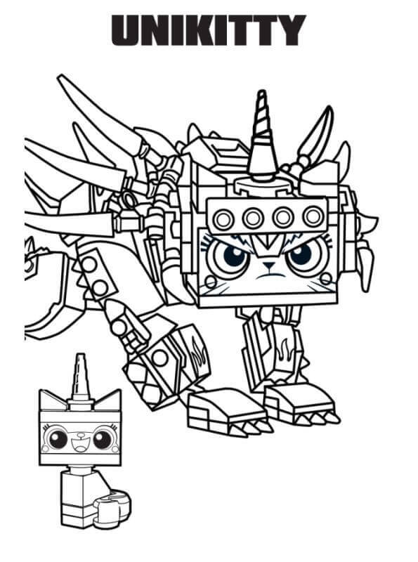 Unikitty The Lego Movie Second Chapter Coloring Image