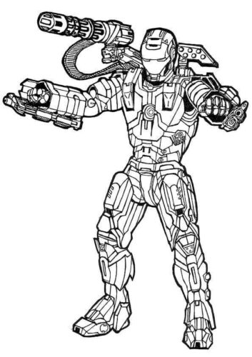 War Machine Avengers Colouring Page