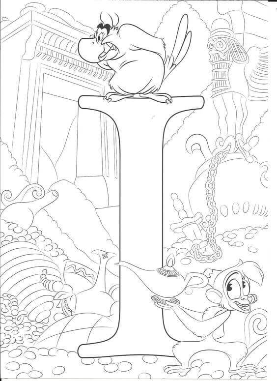 Abu And Iago Coloring Page