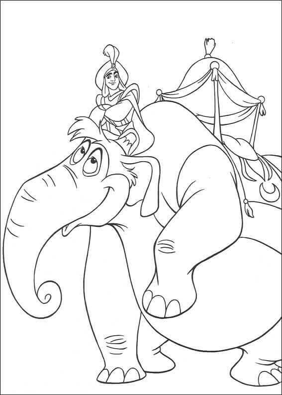 Aladdin Arriving As Prince Coloring Page