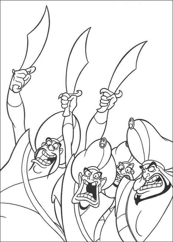 Aladdin Coloring Pages Printable