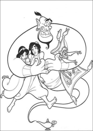 Aladdin Colouring Pages Printable