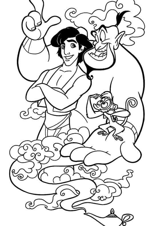 Aladdin Film Coloring Pages