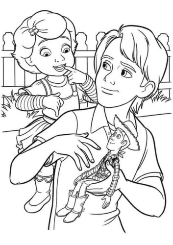 Andy And Bonnie Coloring Page