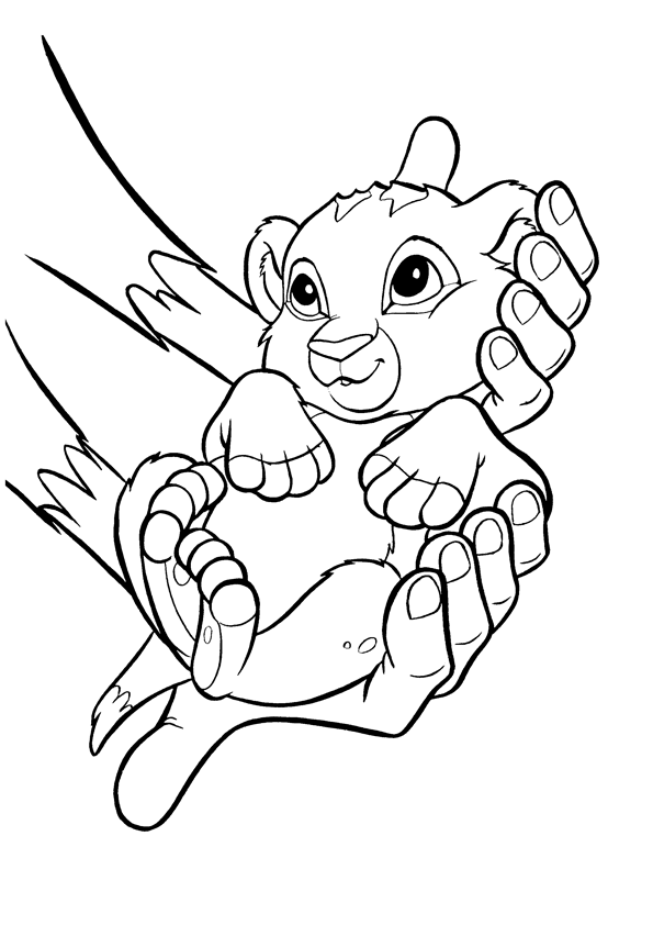 Baby Simba Coloring Page
