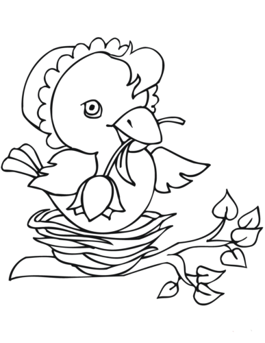 Coloring Pages Of Easter Chicks