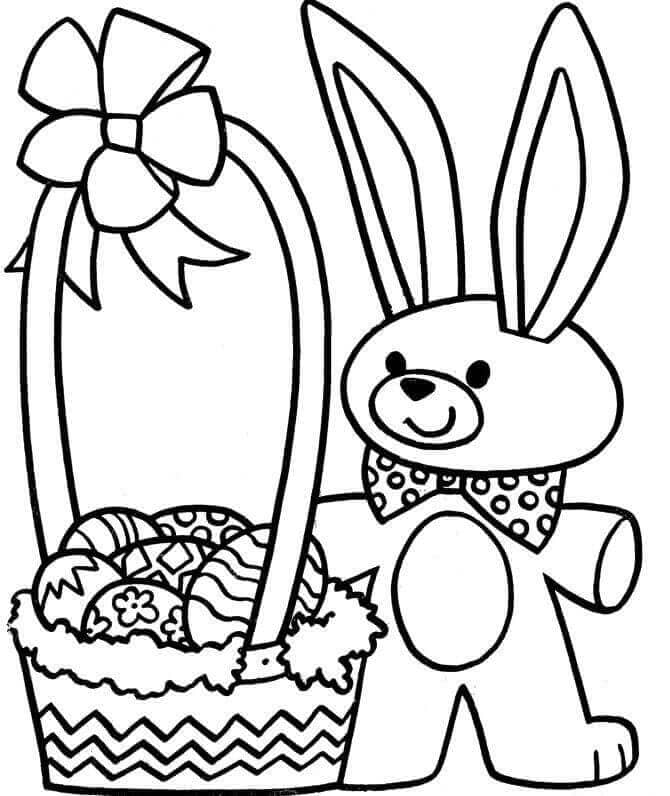 Cute Easter Basket Coloring Pages