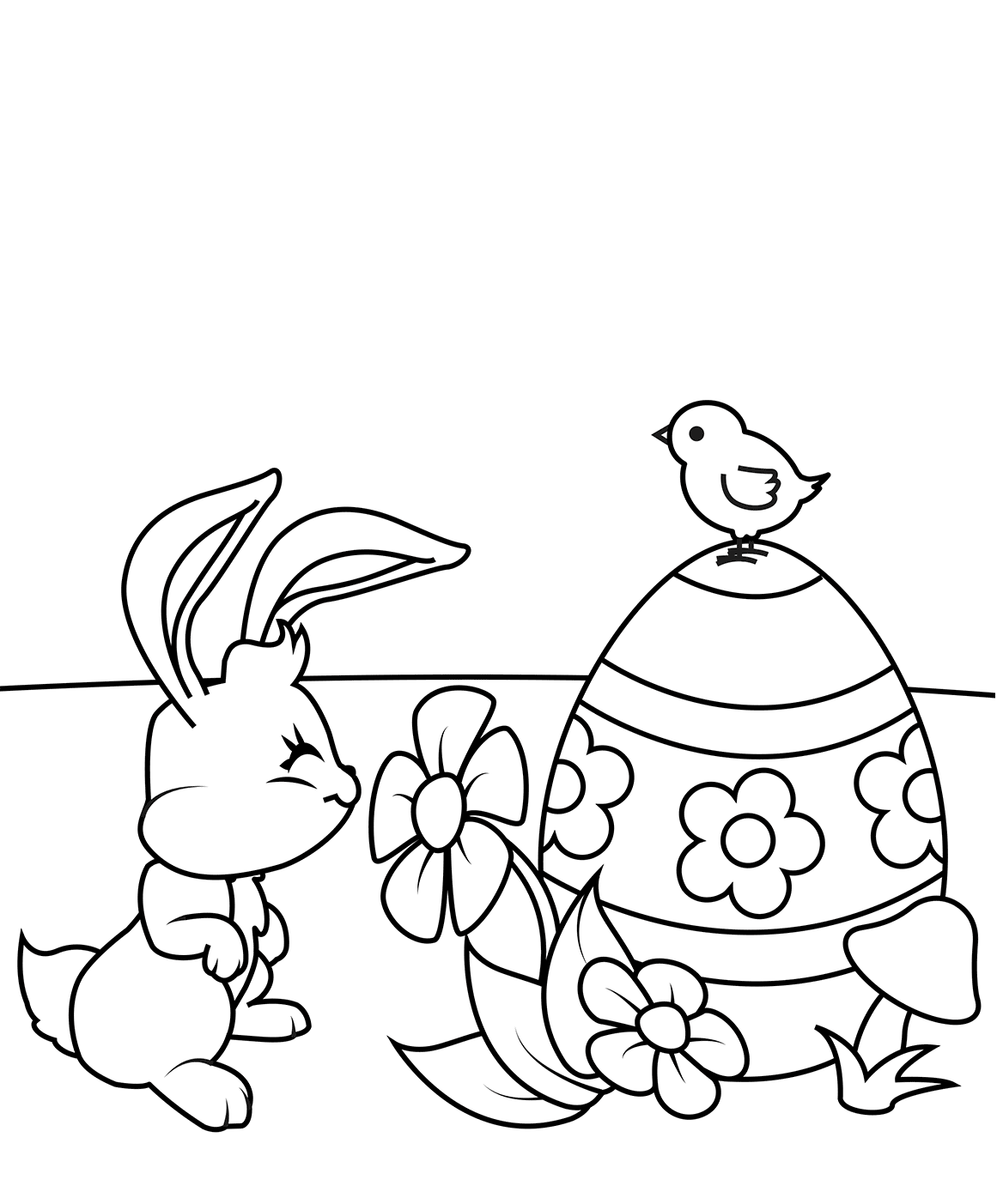 Cute Easter Chick Coloring Pages