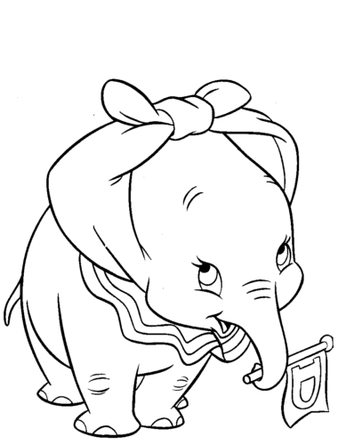 Dumbo Coloring Images