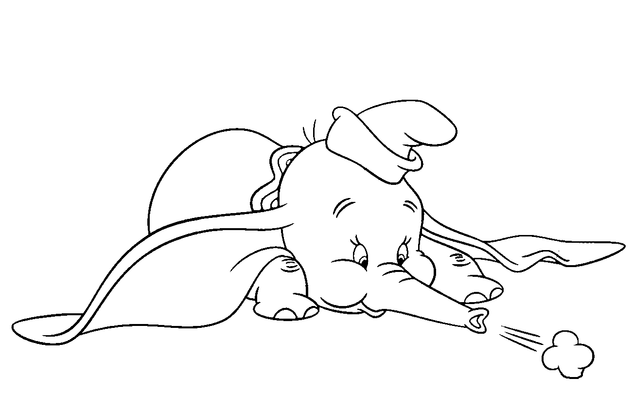 Dumbo Coloring Sheets