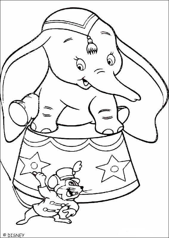 Dumbo In Circus Coloring Page
