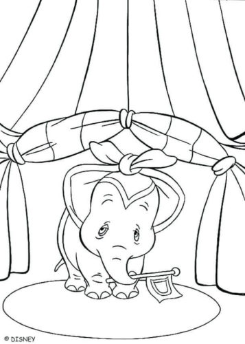 Dumbo With Knotted Ears Coloring Page