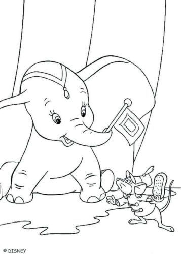 Dumbo With Timothy Coloring Page