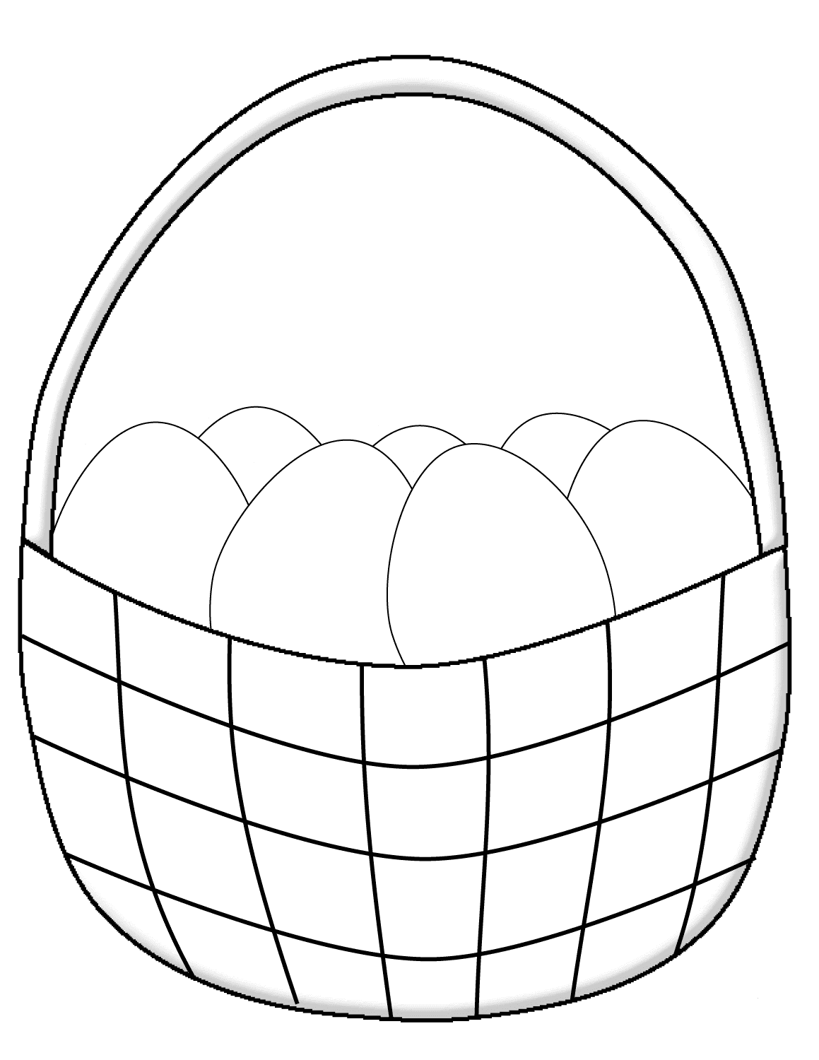 free easter basket coloring pages printable