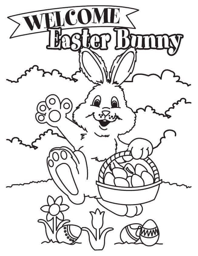 Easter Basket Coloring Sheets Printable