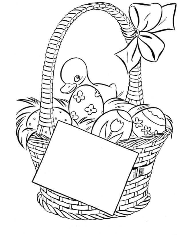Easter Basket Colouring Pages