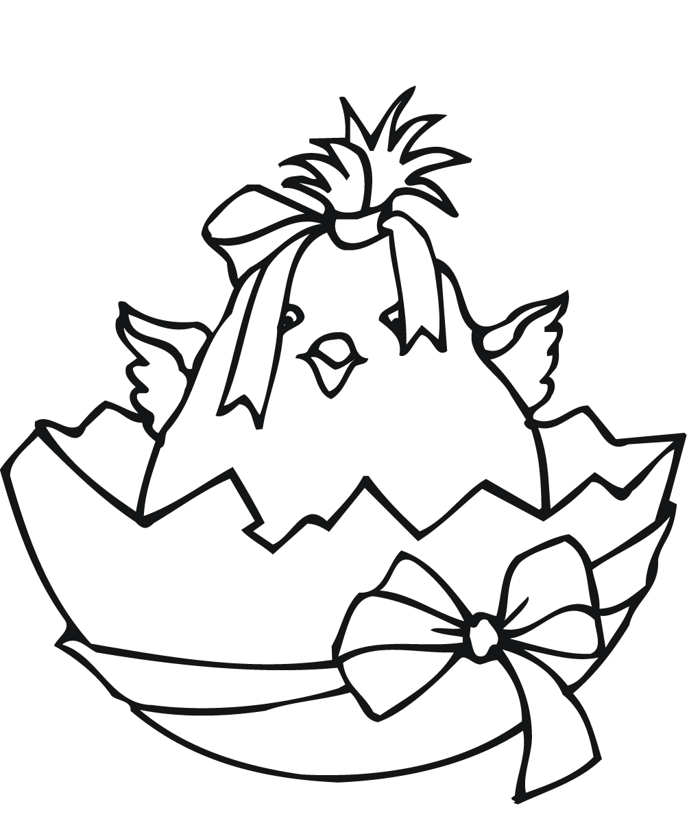 Easter Chic Coloring Pictures Printable
