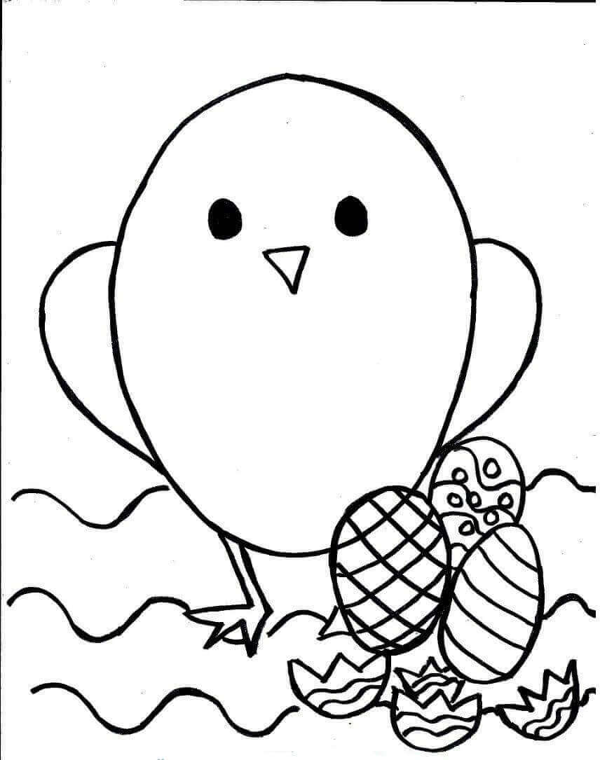 Easter Chick Coloring Sheets Printable