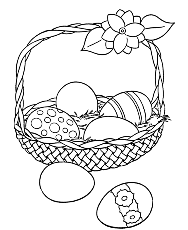Easter Egg Basket Coloring Pictures