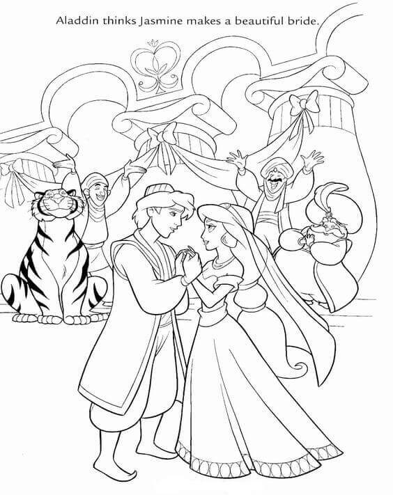 Free aladin coloring pages ~ 30 Free Printable Aladdin Coloring Pages