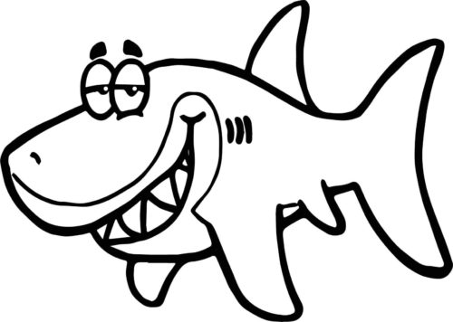 Funny Shark Coloring Page