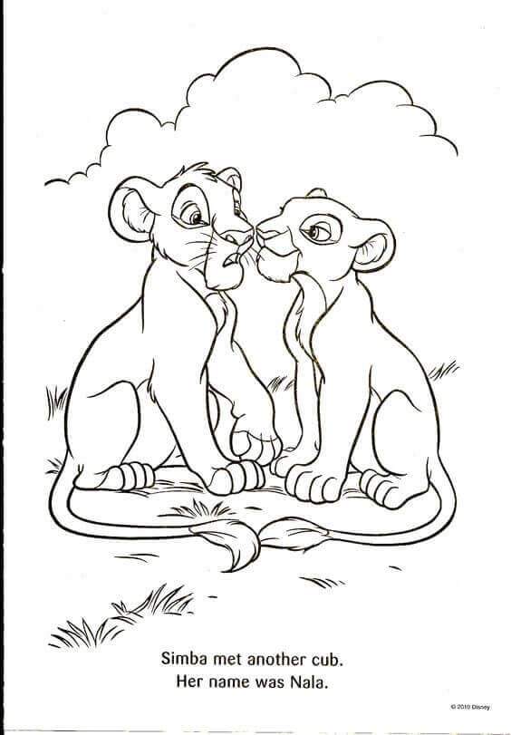 Free Printable The Lion King Coloring Pages