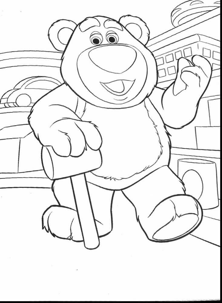 Lotso Hugging Bear Coloring Page