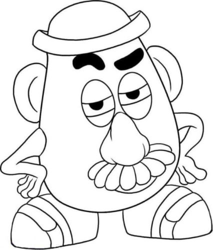 Mr Potato Head Coloring Page