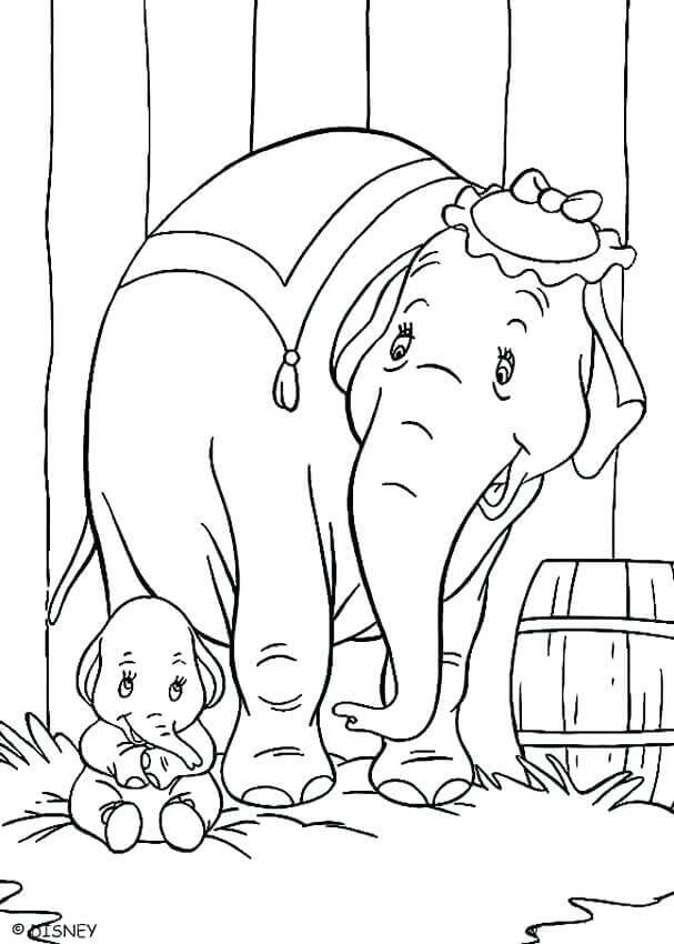 Mrs Jumbo Coloring Page
