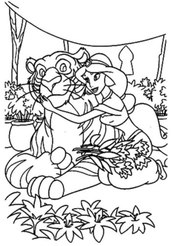 Rajah And Jasmine Coloring Page