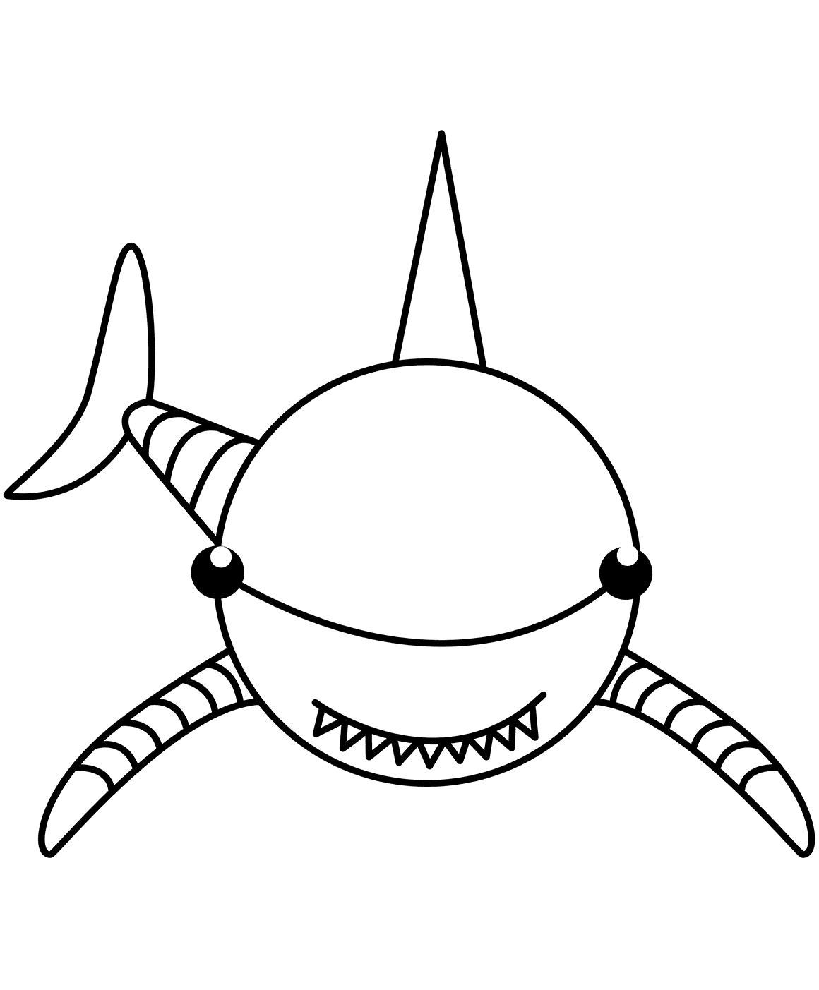 Shark Coloring Page For Preschoolers