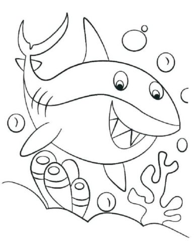 Shark Coloring Pictures To Print