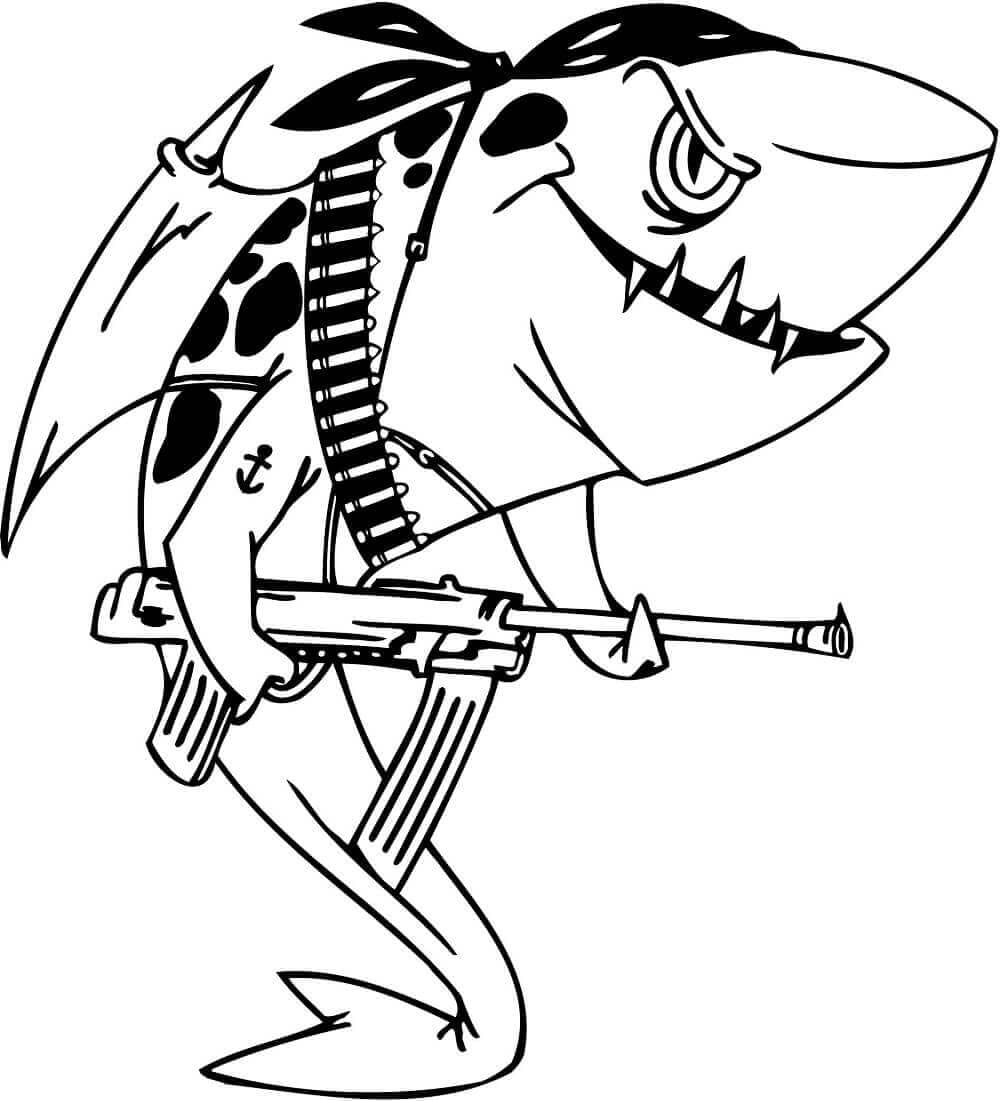 Shark Colouring Pages Free Printable