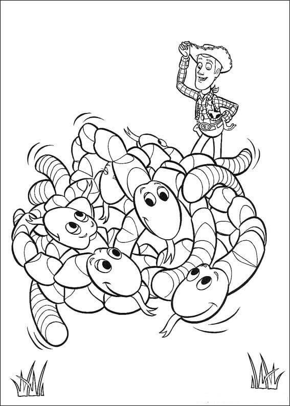 Sheriff Woody Coloring Page